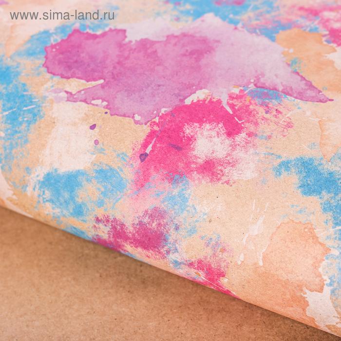 Бумага упаковочная крафтовая «Отражение в воде», 50 × 70 см