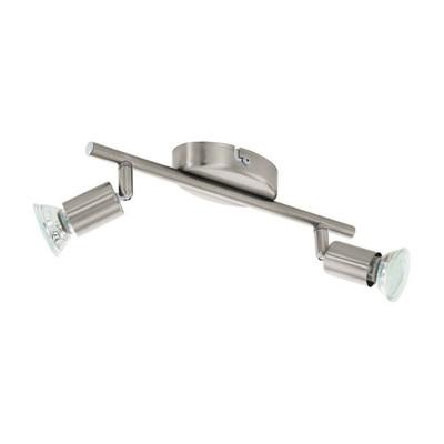 Светильник BUZZ-LED 2x2,5Вт LED никель 28,5x6,5см