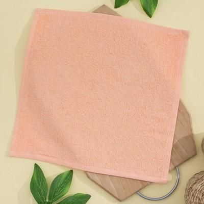 Салфетка махровая, 30х30 см, цвет персик