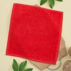 Салфетка махровая 30х30 см, цвет оранж-красный, пл. 380 гр/м2, 100% хлопок