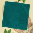 Салфетка махровая 30х30 см, темно-зеленый, хлопок 100%, 380 гр/м2