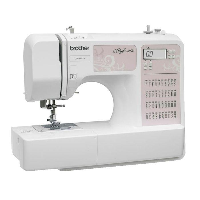 Швейная машина Brother Style 40e, 40 Вт, 40 операций, автомат, бело-розовая