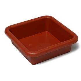 Ящик для рассады, 23,5 × 23,5 × 7 см, 3 л, терракотовый Ош