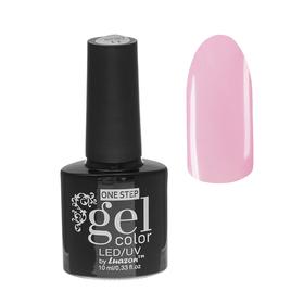Гель-лак для ногтей, 216-072-17, однофазный, LED/UV, 10мл, цвет 216-072-17 прозрачно-розовый