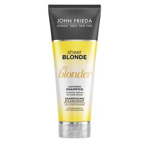 Осветляющий шампунь John Frieda Sheer Blonde Go Blonder для натуральных, мелированных и окрашенных волос, 250 мл