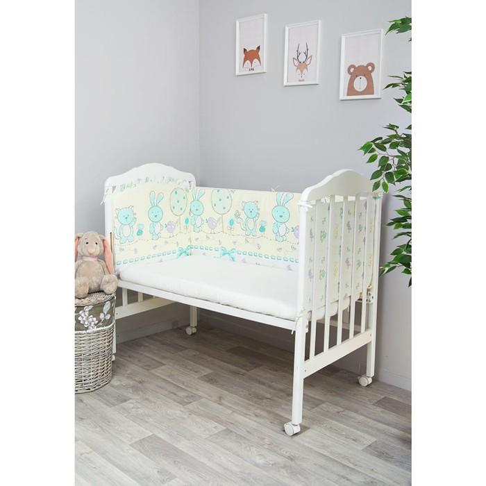 Борт в кроватку «Акварель», размер 360 × 44 см, цвет бирюзовый