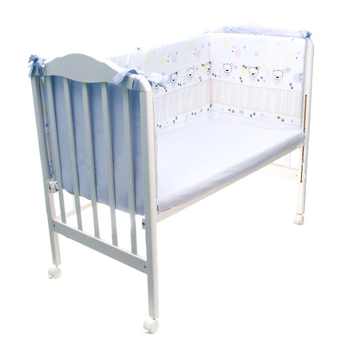 Борт в кроватку «Конфетти», размер 360 × 52 см, цвет голубой