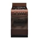 Плита газовая Gefest 3200-08 K19, 4 конфорки, 42 л, газовая духовка, коричневая