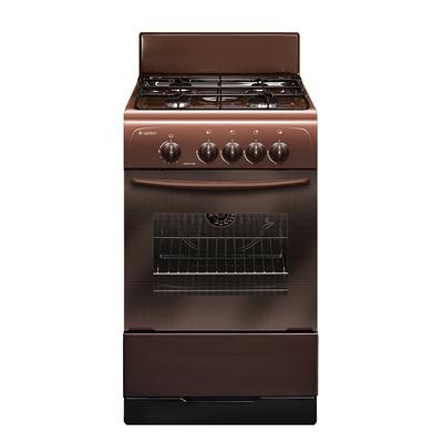 Плита Gefest 3200-08 K19, газовая, 4 конфорки, 42 л, газовая духовка, коричневая