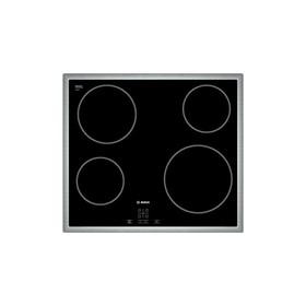 Варочная поверхность Bosch PKE 645 B 17 E, 4 конфорки, электрическая, черный