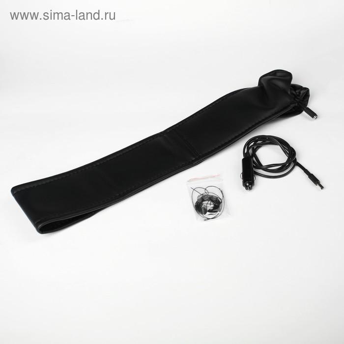 Оплетка на руль, сшивная, с подогревом, 38-40 см, экокожа, черная
