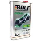 Моторное масло Rolf Energy 10W-40 SL/CF полусинтетика, 1 л