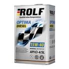 Моторное масло Rolf Optima Diesel 15W-40 API CI-4/SL, 4 л