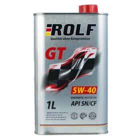 Моторное масло Rolf GT 5W-40 SN/CF синтетическое, 1 л