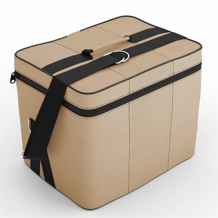 Автомобильная сумка, экокожа, кремовая