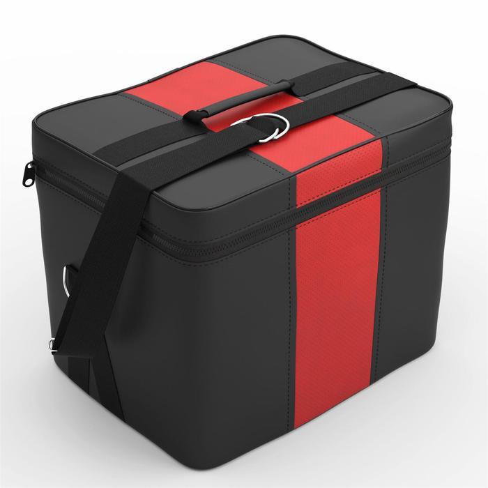Автомобильная сумка, экокожа, чёрно-красная