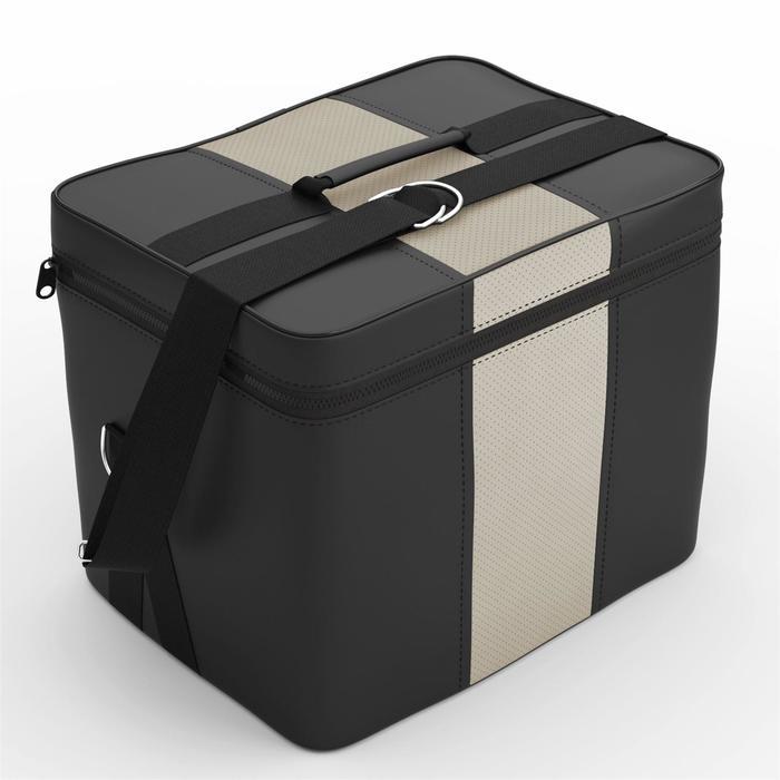 Автомобильная сумка, экокожа, чёрно-кремовая