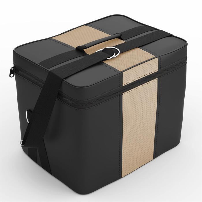 Автомобильная сумка, экокожа, чёрно-бежевая