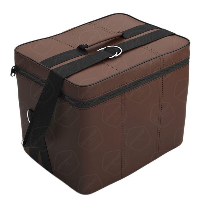 Автомобильная сумка, экокожа, шоколад