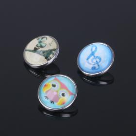 Кнопка для браслета 'Душевные мотивы', цвет МИКС Ош