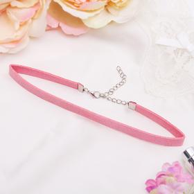 Чокер 'Амели' с блёстками, цвет розовый в серебре Ош