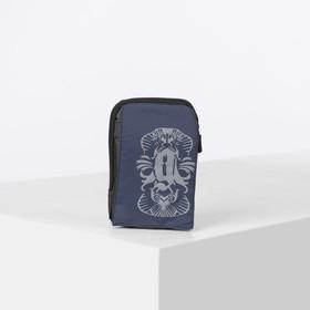 Сумка поясная, отдел на молнии, 2 наружных кармана, с карабином, цвет синий Ош