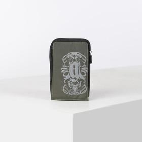Сумка поясная, отдел на молнии, 2 наружных кармана, с карабином, цвет хаки Ош