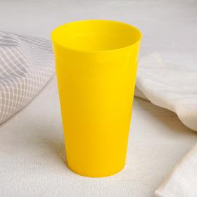 Стакан ТД Ангора «Ангора», 400 мл, цвет жёлтый