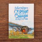 Открытка с подвеской «Новосибирск. Мишка на шаре»