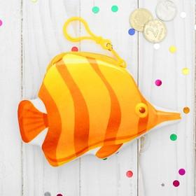 Кошелёк мягкий «Рыбка», на карабине, оранжевая полосочка Ош