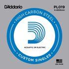 Отдельная струна D'Addario PL019 Plain Steel  без обмотки, сталь, .019,