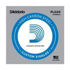 Отдельная струна D'Addario PL020 Plain Steel  без обмотки, сталь, .020,