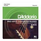 Струны для укулеле D'Addario EJ65S Pro-Arte Custom Extruded  сопрано