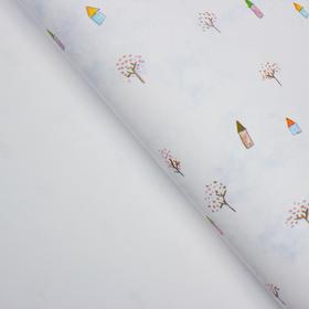 Бумага упаковочная 50 см х 70 см Ош