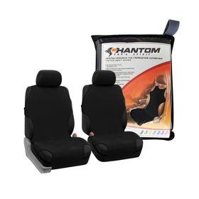 Чехлы-майки универсальные на передние сиденья, черные BOXERKA PHANTOM Ош