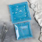 Набор блюд «Марокко», 2 шт: 19×19 см, 24×24 см, цвет голубой, подарочная упаковка - Фото 2