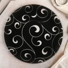Блюдо сервировочное «Марокко», d=30 см, чёрное - Фото 1