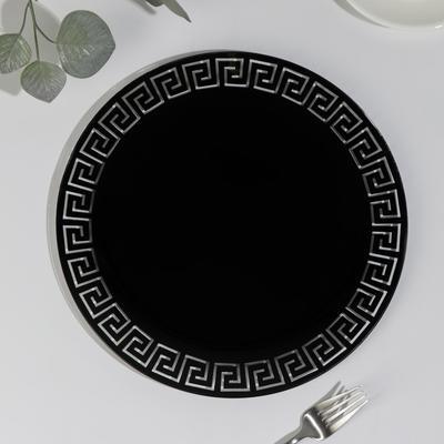 Блюдо «Версаче», d=30 см, цвет чёрный - Фото 1