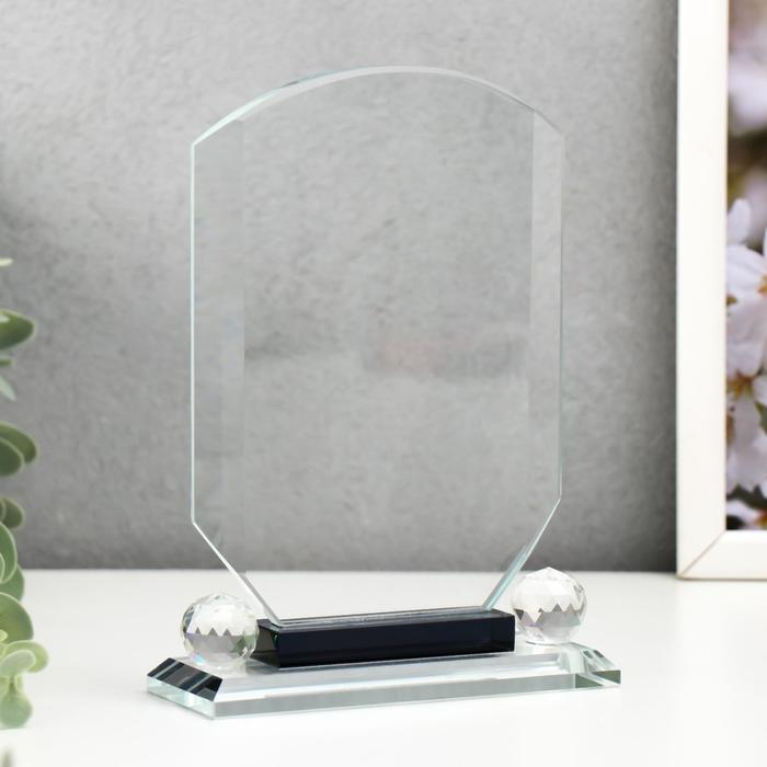 Сувенир стекло Стела наградная - Ария 17х12х4 см