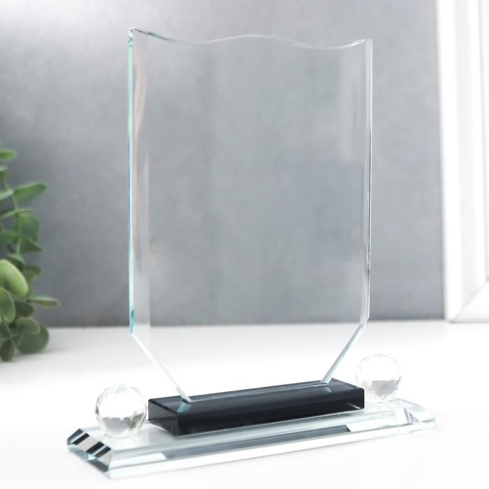 Сувенир стекло Стела наградная 17х12х4 см