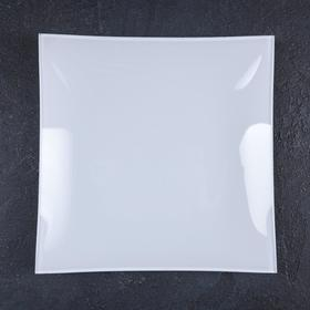 Тарелка, 19,5×19,5 см, гладкая белая