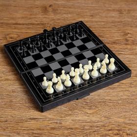 Настольная игра 3 в 1 'Зук': нарды, шахматы, шашки, магнитная доска 19х19 см Ош