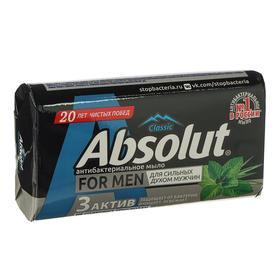 Крем-мыло Absolut For Men «Лемонграсс и мята», антибактериальное, 90 г