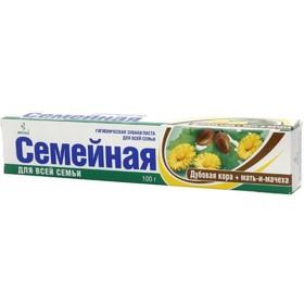 Зубная паста Весна Семейная «Дубовая кора и мать-и-мачеха» ,100 г