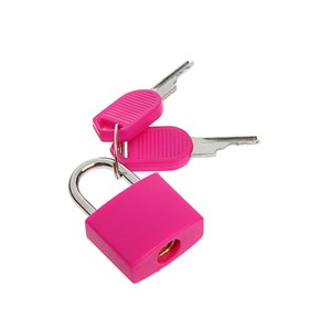 Замок навесной для чемодана, малый, розовый Ош
