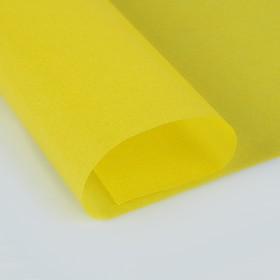 Калька для цветов 40 г/м², жёлтая, 70 х 100 см Ош