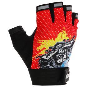 Перчатки для фитнеса, текстиль, размер M, цвет МИКС Ош