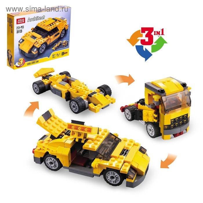 Конструктор «Гоночный автомобиль», 3 варианта сборки, 206 деталей
