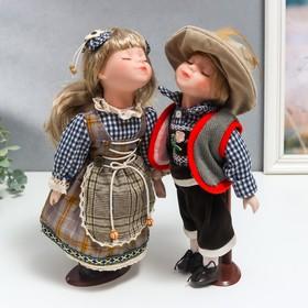 Кукла коллекционная парочка поцелуй набор 2 шт 'Кай и Герда' 30 см Ош