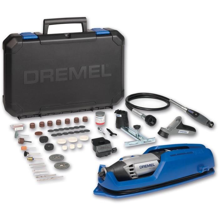 Гравер DREMEL 4000 4/65 EZ F0134000JT, 175Вт, 5000-35000об/мин, 65 насадок, гибкий вал